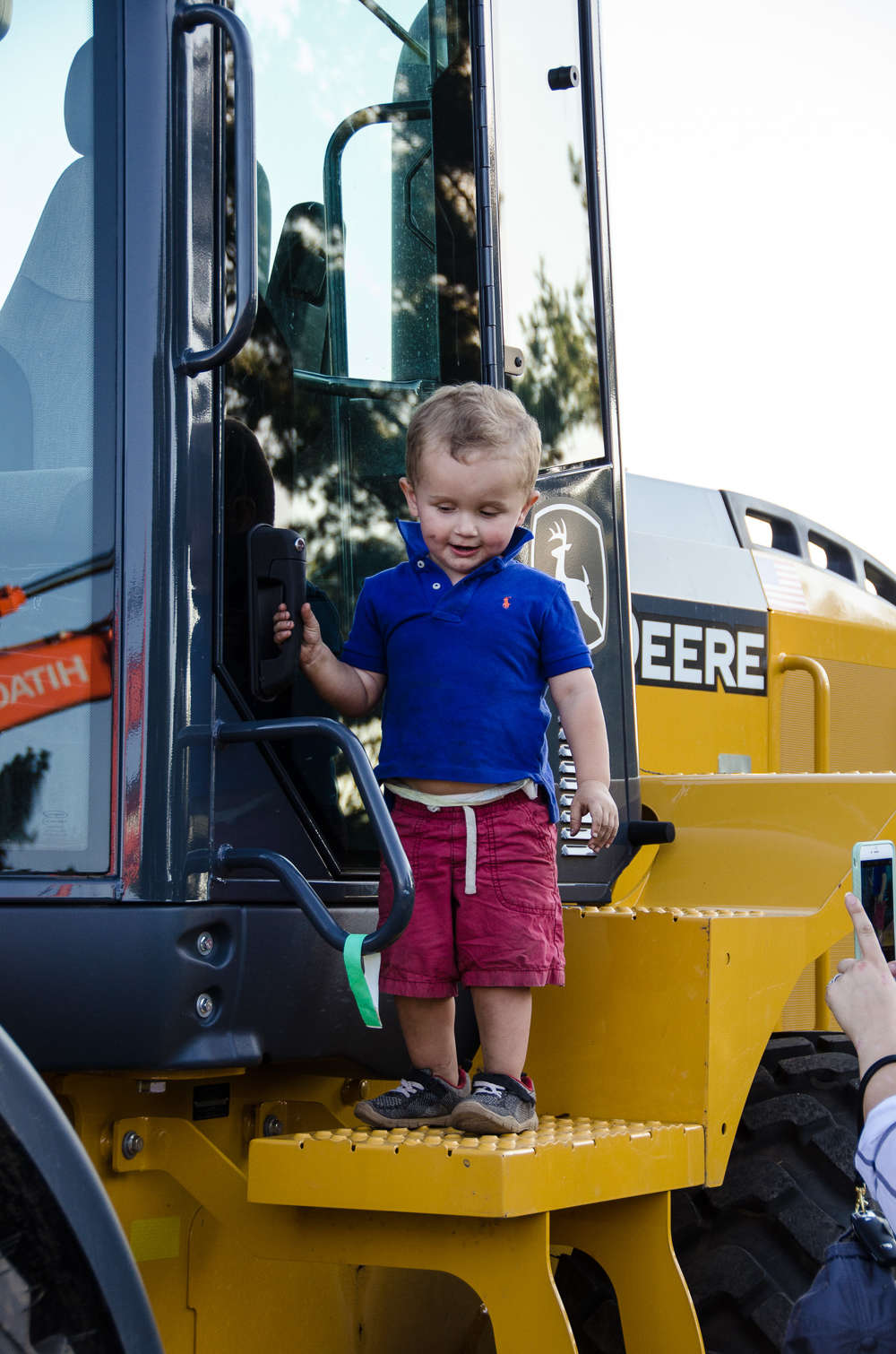 Future Operator?  Contractor?  Engineer?  Either way, guests of all ages enjoyed the day at W.I. Cark's customer appreciation day.