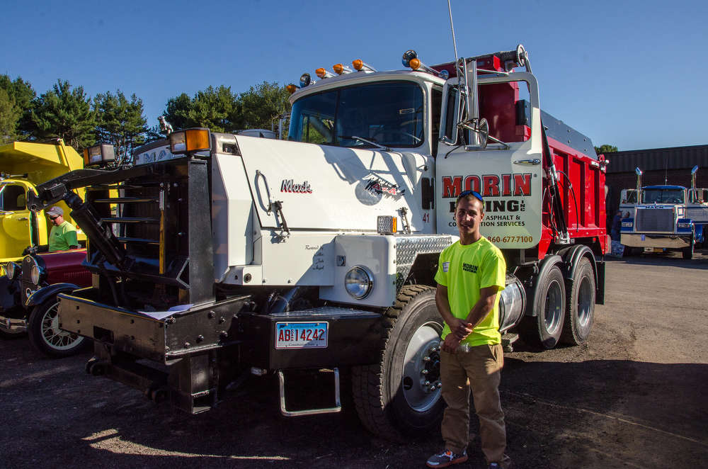 Collin Morin of Morin Paving in Plainville, Conn., won 2nd place in the dump division of the truck show with his 1988 Mack RM FWD.