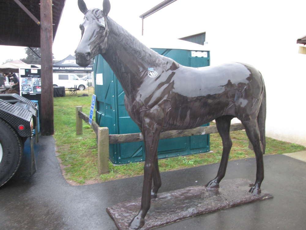 Among the many unusual items for sale at The Sales Auction Co. mega-lot event was this life-sized bronze horse.