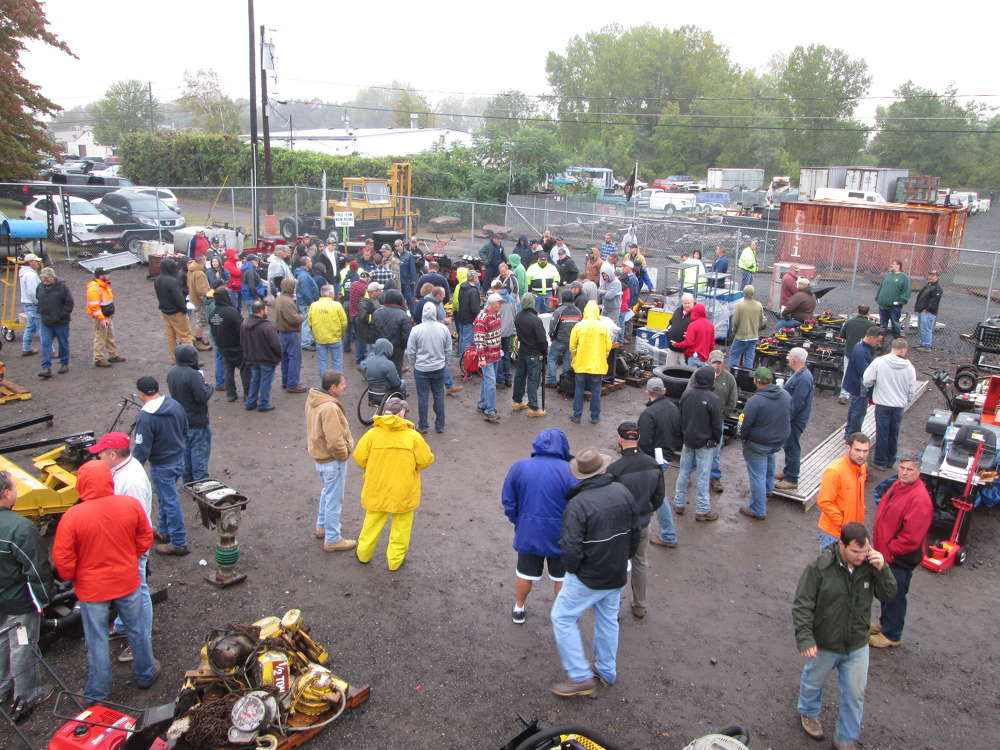 Despite inclement weather, a large crowd arrived as early as 7 a.m. to register.