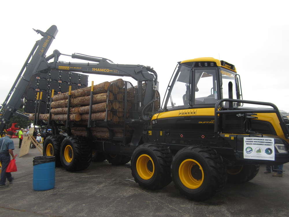 Ponsse displayed a wide range of forestry products at the annual expo, including this Ponsse King Buffalo forwarder.