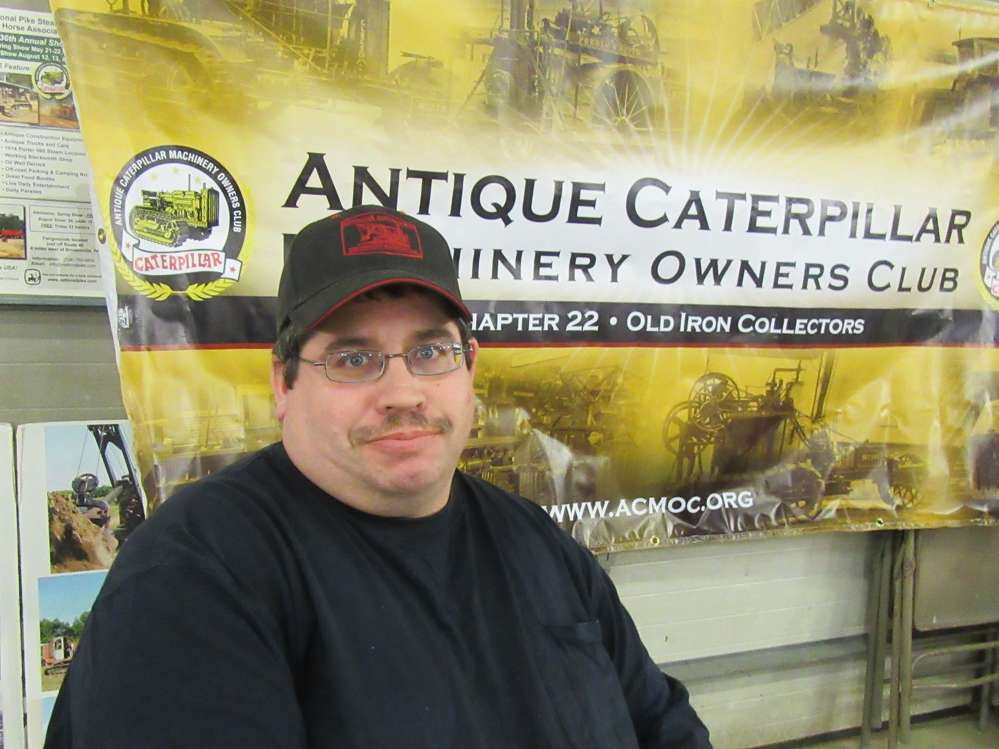 Bryan Coulson, president of the Antique Caterpillar Machine Owners Club, Chapter 22,  was ready to answer questions.