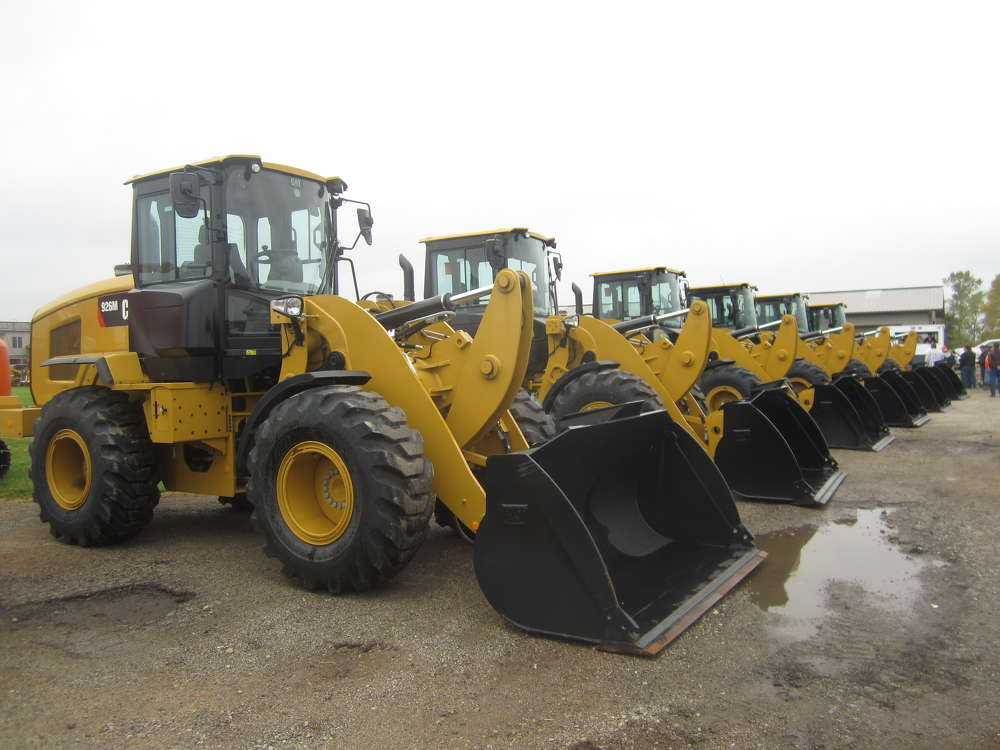 The sales featured a variety of Cat 924M wheel loaders for attendees to bid on.