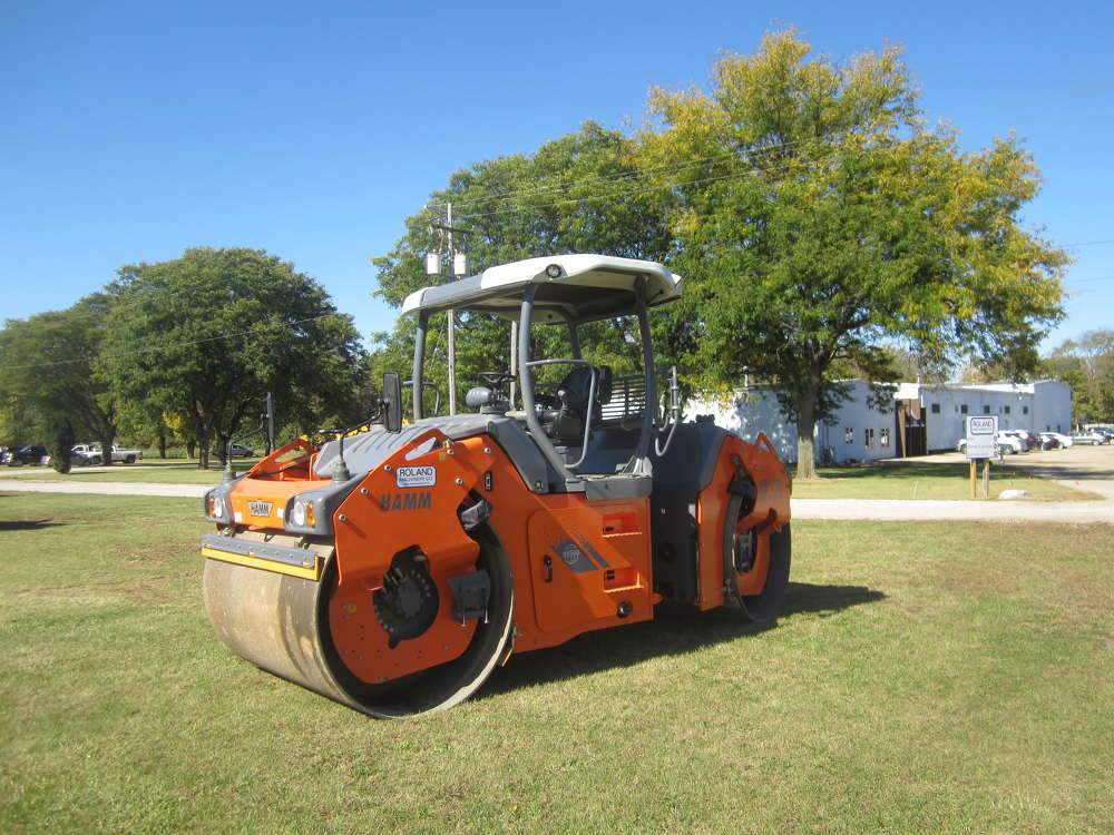 Roland Machinery Co. displayed this Hamm roller at the open house.