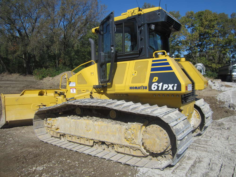 Customers had the chance to operate this Komatsu D61PXi dozer equipped with Intelligent Machine Control, as well as other Komatsu equipment.