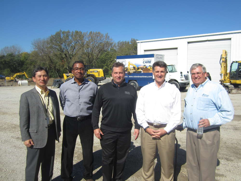 Max Moriyama, president and COO, Komatsu America; Jenkins Davis, Komatsu America; Matt Roland, president, Roland Machinery Co.; Rod Schrader, chairman and CEO, Komatsu America; and Ray Roland, CEO, Roland Machinery Co.