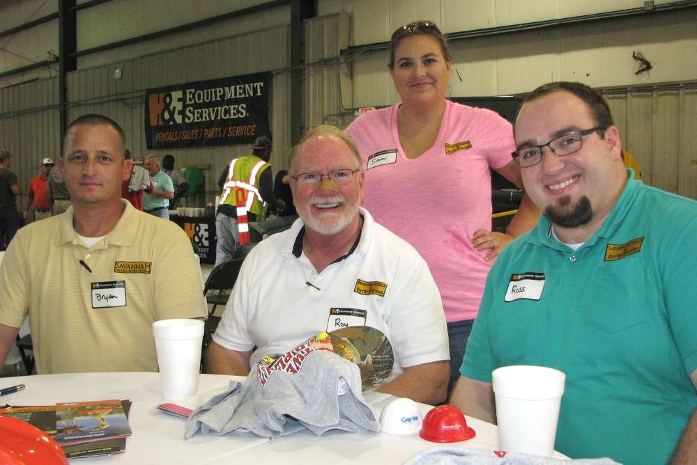 (L-R): Bryan Rambo, Roy Tomazin, Sami Lane and Ross Tomazin, Savannah Fence & Entry Systems, Pooler, Ga., attend the event.