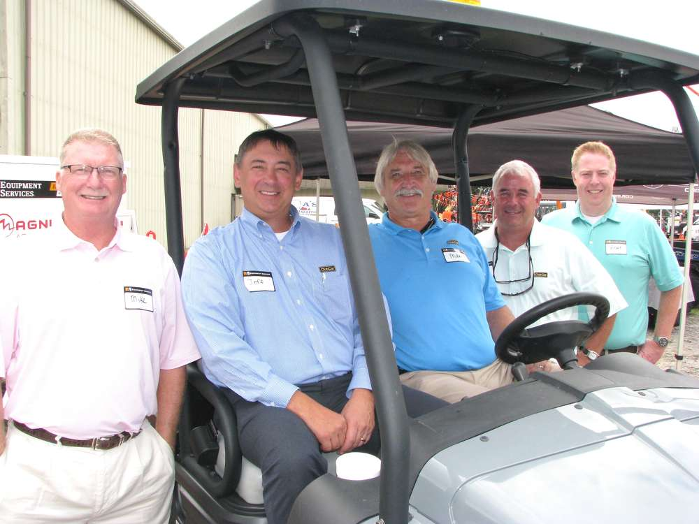 (L-R) are Mike Rushing, Jeff Miller, Mike Holderfield, Ben McElmurray and Brant Mitchell, all of Club Car, Augusta, Ga.