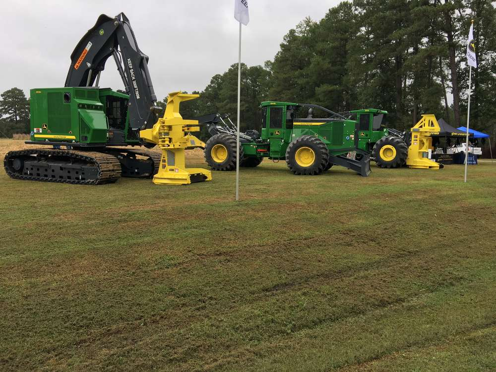 James River Equipment displayed several of its top selling forestry machine.