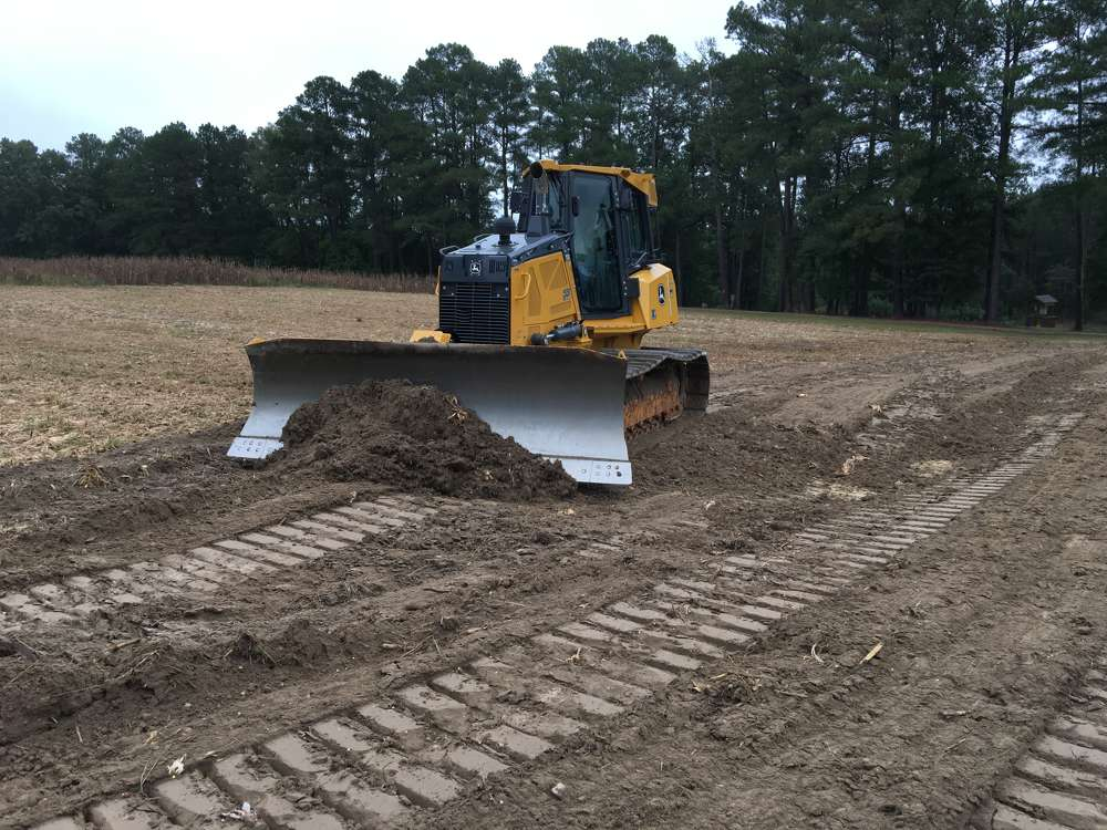 Scott Sullivan of Sullivan Eastern in Durham, N.C., operates this new John Deere 700K LGP dozer, which features Smartgrade —   a fully integrated machine control system from Topcon.
