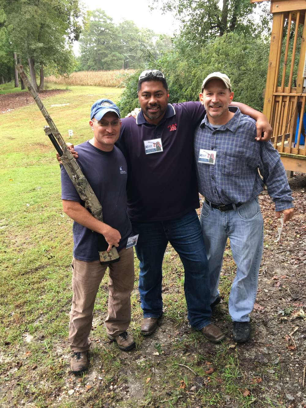 Dana Grode, Brian Leavma and Wray Dybal,  all of Landscapes Unlimited in Fuquay-Varina, N.C., enjoy a day out of the office.