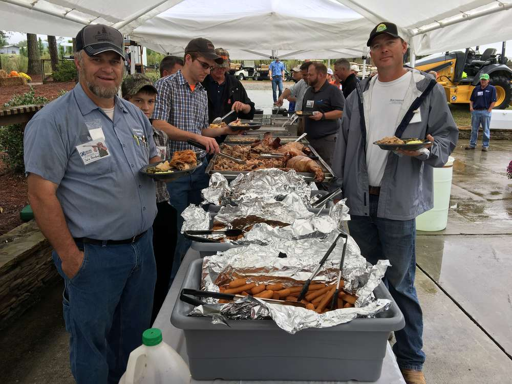 A hearty barbeque lunch was served at the event.