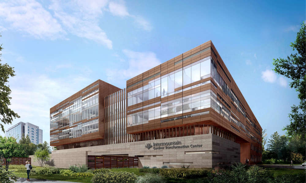 Artist's rendering of the Gardner Transformation Center. Intermountain Healthcare photo