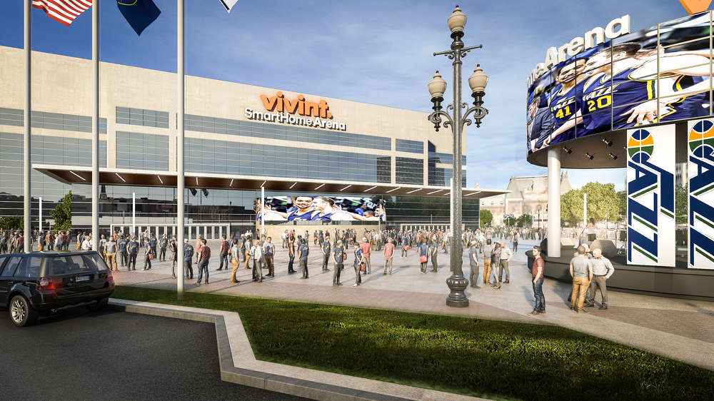 Vivint Smart Home Arena photos. The majority of the construction will begin at the conclusion of the 2016-17 Utah Jazz basketball season with anticipated completion by fall 2017.