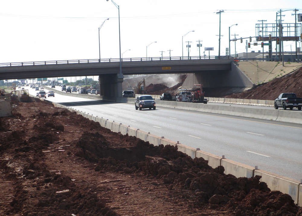 This first phase reconstructs I-240 from Santa Fe Ave. about .5 mi. (.8 km) east past Shields Blvd. and constructs a new westbound I-240 off-ramp to Santa Fe and a new eastbound on-ramp to I-240 from Santa Fe.