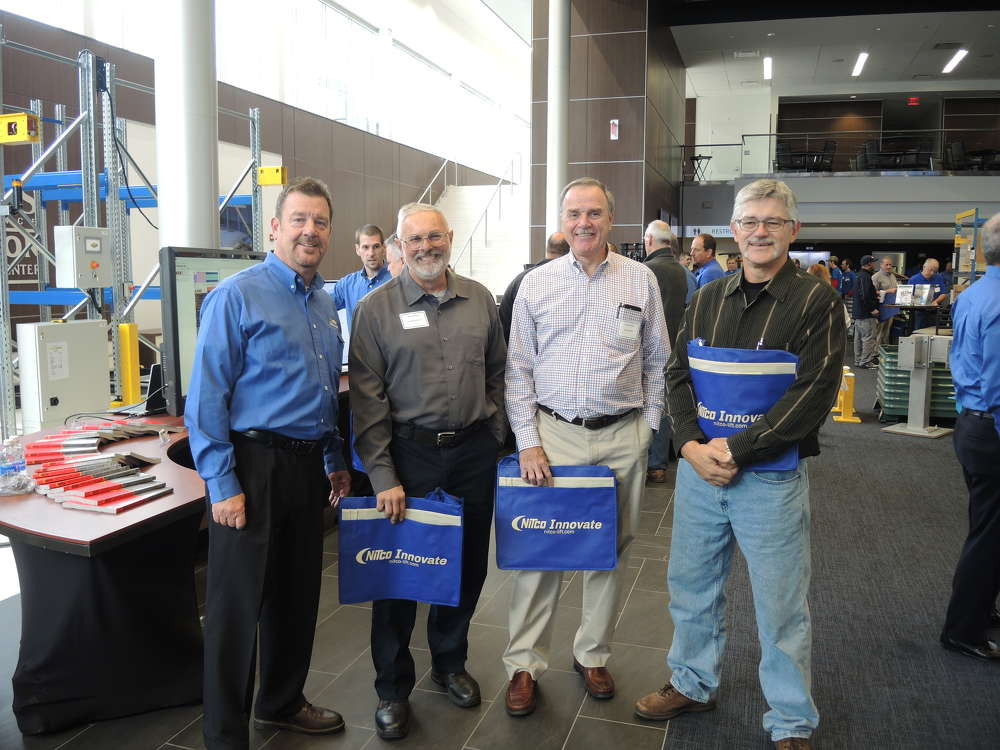 (L-R) are Bill Spain, NITCO New Hampshire sales representative; John Samson, Law Logistics; Bryan Wojcik, Law Logistics; and Steve Gagnon.