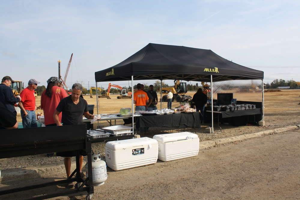 There was plenty of food at the event as guests were served hamburgers, hot dogs and cheesesteak eggrolls, among other delicious items.