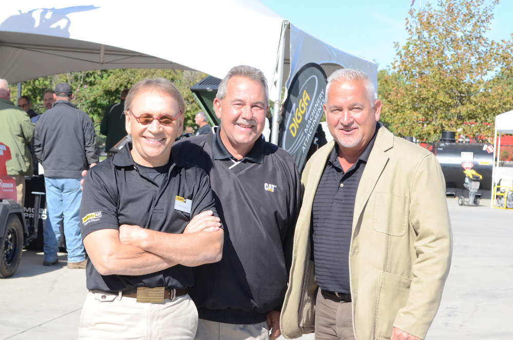 (L-R): Hank Emilson and John Alexander, both of Alban CAT, and Rich Califano of Foley CAT meet up at the Alban CAT-A-Thon.