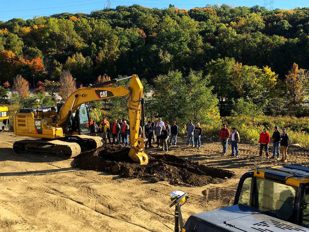On Oct. 15, operating professionals from the International Union of Operating Engineers Local 14-14B took advantage of the opportunity to operate the latest machine control technology offered by Caterpillar and Trimble at Local 14's training facility in Montrose, N.Y.