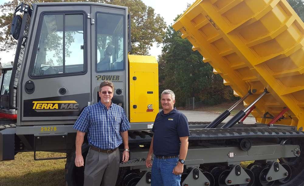 Chris Gaylor, President of Power Equipment Company, left, and Matt Nelson, Regional Sales Manager of Terramac, right.