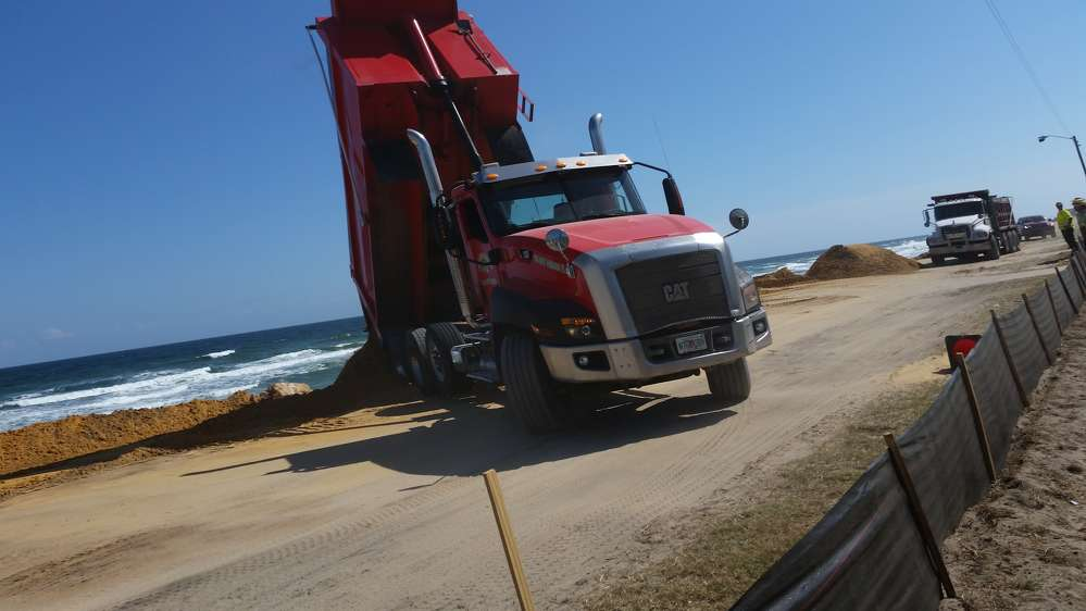 The pounding Atlantic surf caused erosion and damage at almost every beach in central and north Florida, with the towns of Indialantic, Daytona Beach, Flagler Beach, St. Augustine and Fernandina Beach seeing protective dunes ravaged and in need of restoration by off-road trucks, backhoes and dozers.