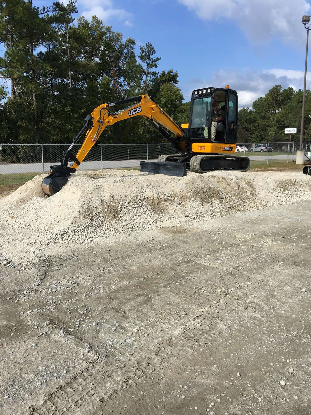 A local contractor tests out the JCB 55 Z1.
