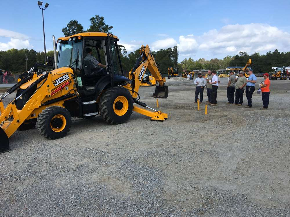 Many contractors came to the event to compete in the backhoe rodeo.