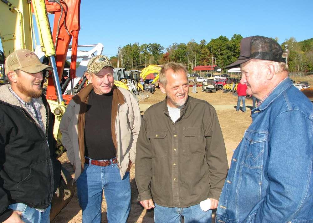 (L-R) are Greg Cochran, Farm Fencing, Blue Ridge, Ga.; David Allen, Allen Logging, Blue Ridge, Ga.; Gary Cochran, Farm Fencing; and J.E. Cochran, Fannin County Mule Company, Blue Ridge, Ga.