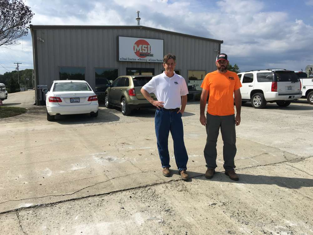 Mabe Steel Inc., based in Kernersville, N.C., is run by Bryan Mabe (L) and Josh Church.