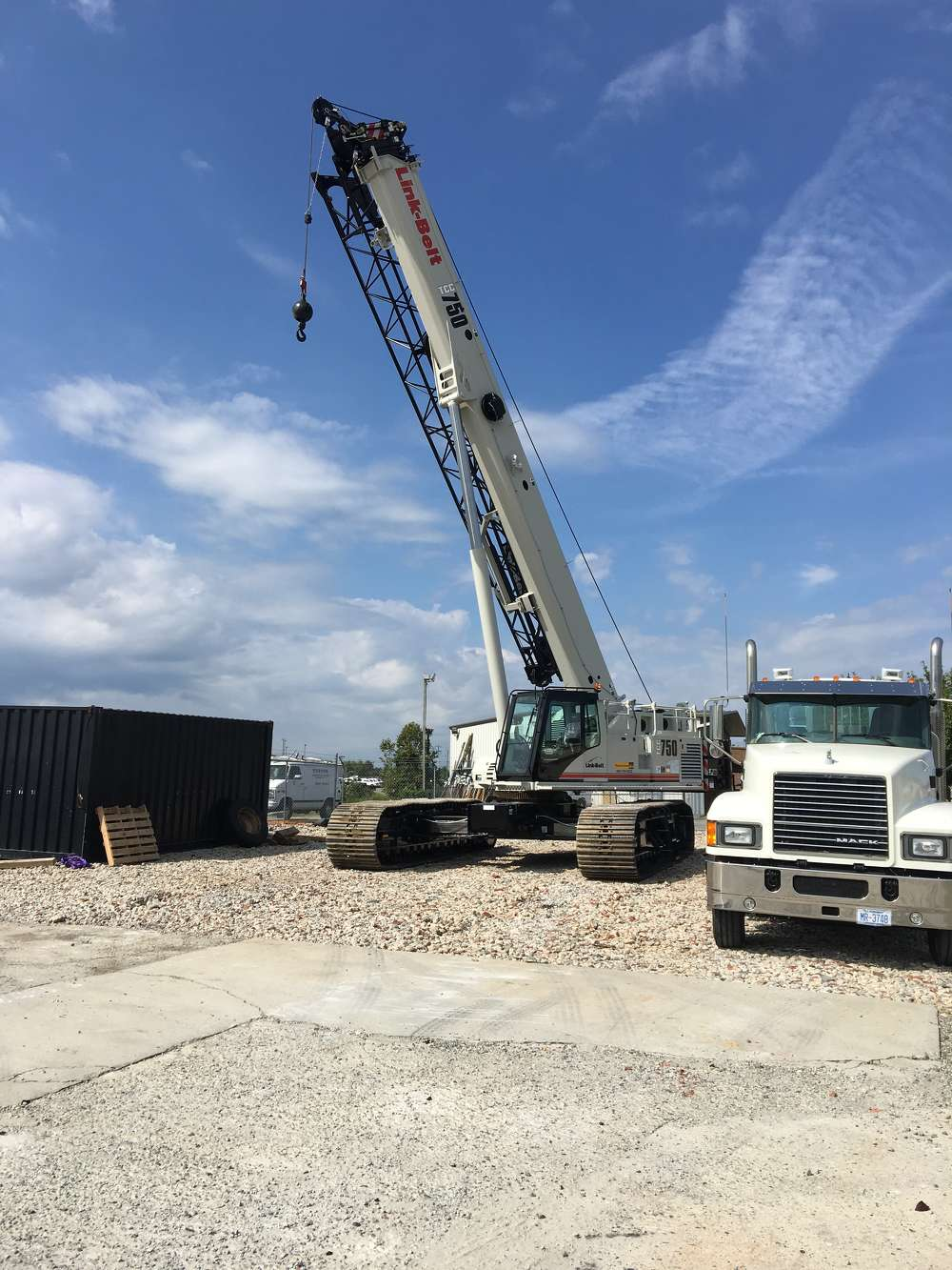 This 2016 Link-Belt TCC-750 crane is ideal for the company's work.