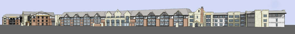A rendering of the completed Fair Haven Retirement Community project.