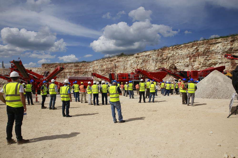Martin Marietta hosted demonstrations  at Rio Medina Quarry, San Antonio, Texas, featuring eight Terex|Finlay machines in three working demonstration zones.