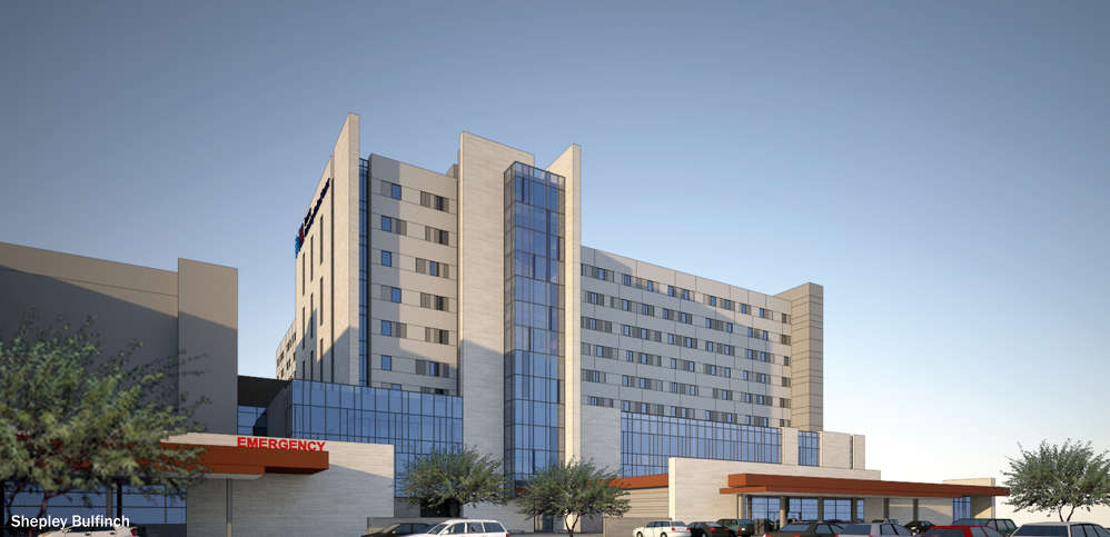 Shepley Bulfinch photo. Banner-University Medical Center is building a new, $400 million, nine-story tower that will replace the 40-year-old hospital now in use at the center's Tucson campus.