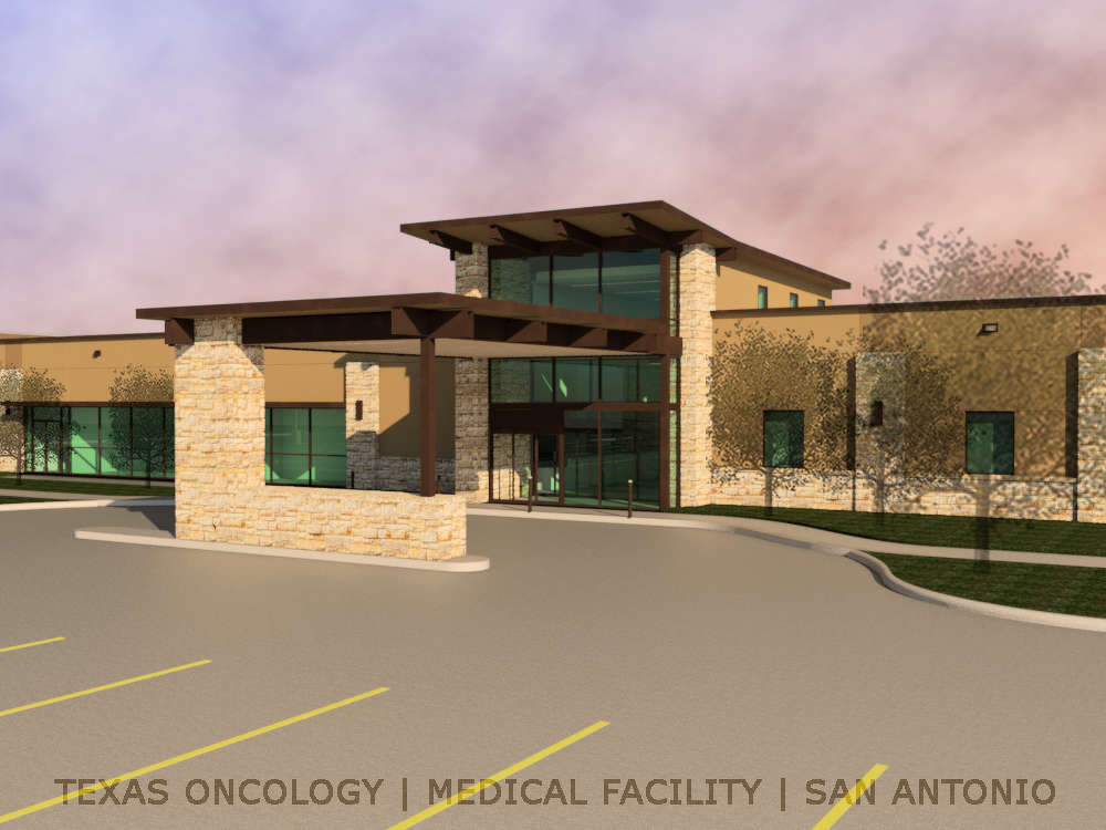 Texas Oncology photo Texas Oncology's new 40,000 sq. ft. (3,716 sq m) center will include leading-edge imaging and radiation treatment technology as well as advanced medical and surgical oncology services.