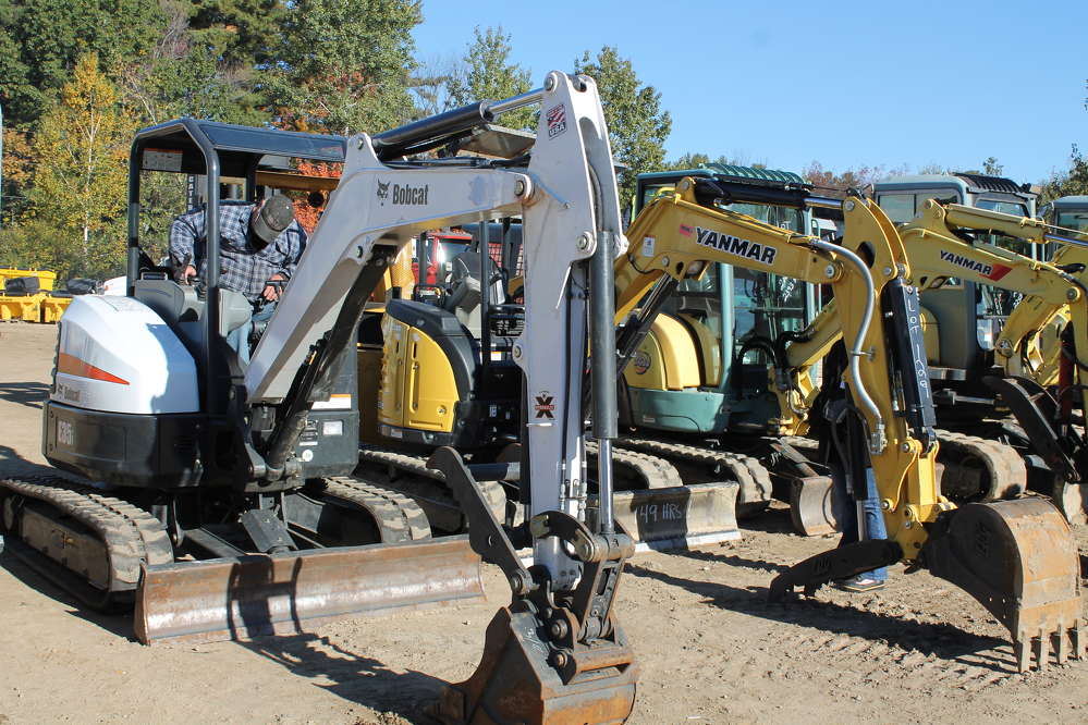 There was a very nice selection of mini-excavators up for grabs.