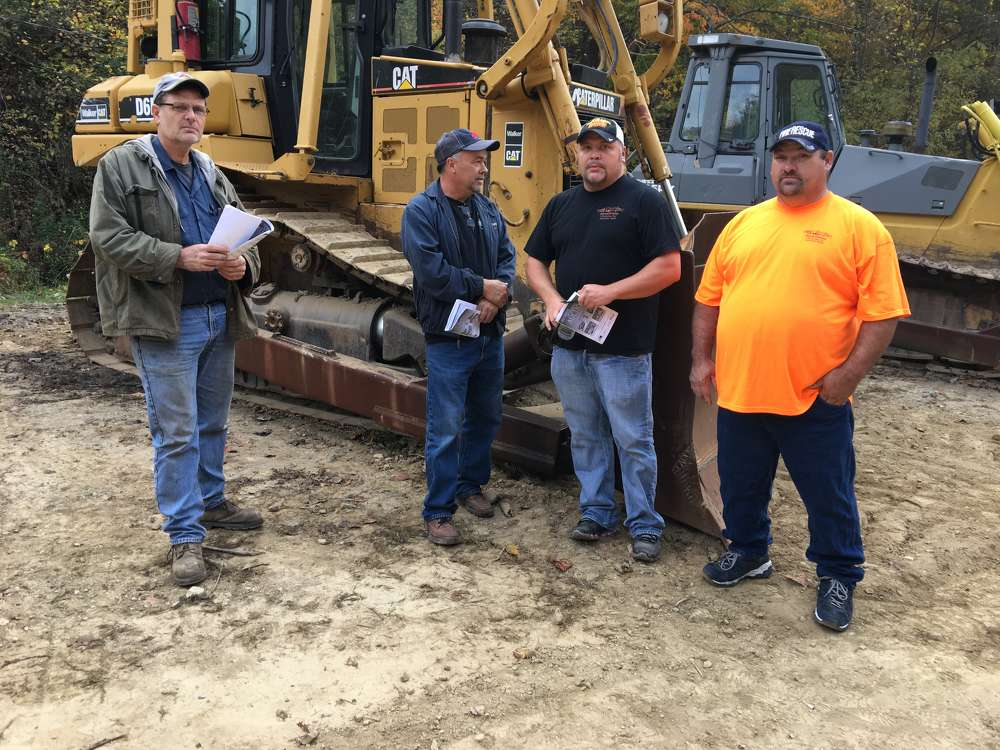 (L-R) are Robin Belcher, P.B. Dirt Movers in Big Rock, Va.; Shawn Justus, Justus Trucking in Hurley, Va.; Keith Tincher and Earn Davis, both of K&K Steamcleaning & Contractors Inc. in Williamson, Ky.