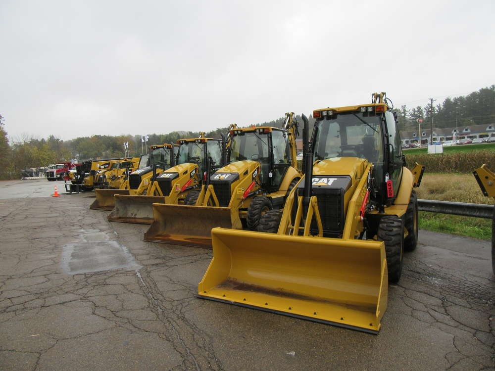 Machines were lined up and ready for sale.