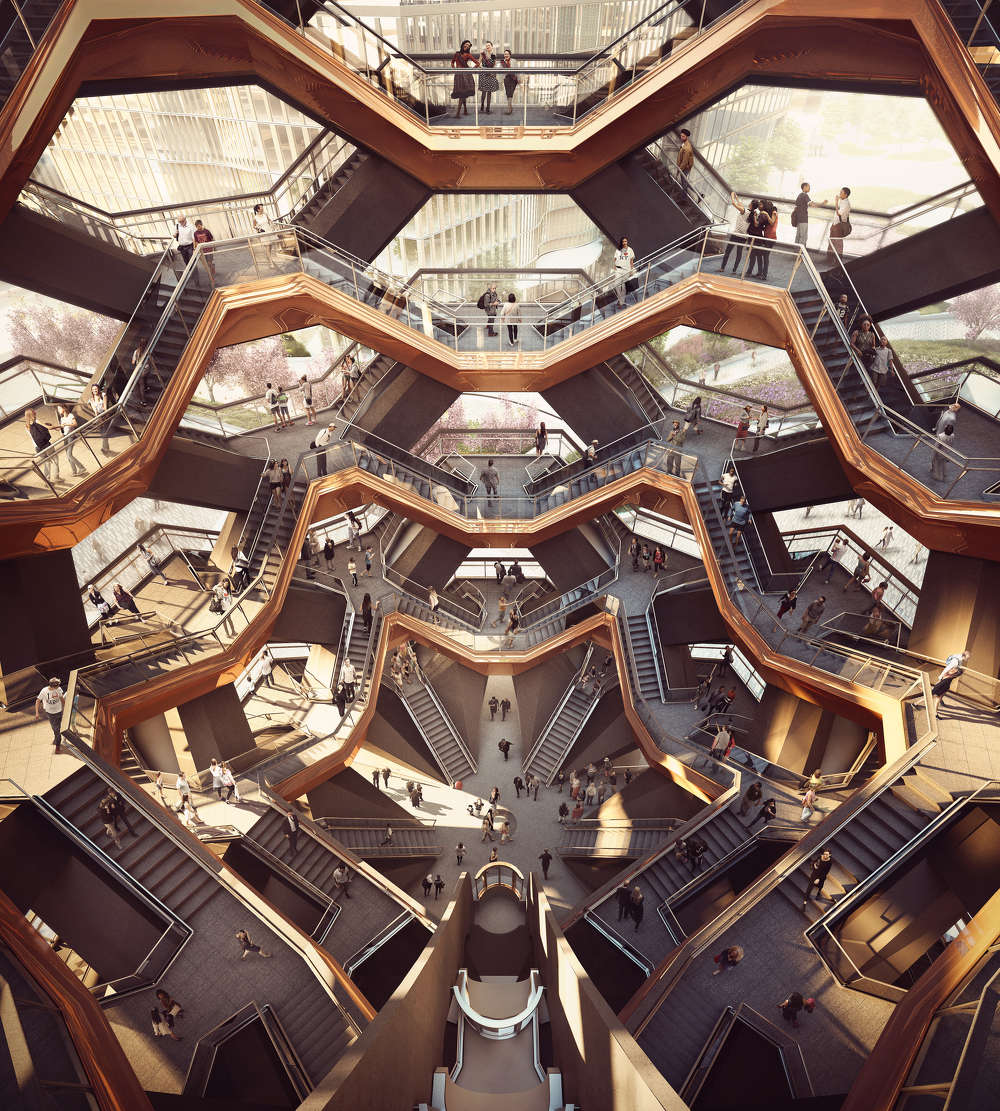 Forbes Massey photo Interior view of Hudson Yards' unique landmark, the Vessel.