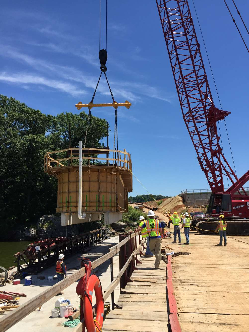 The $128 million project is the second of two bridge replacements.