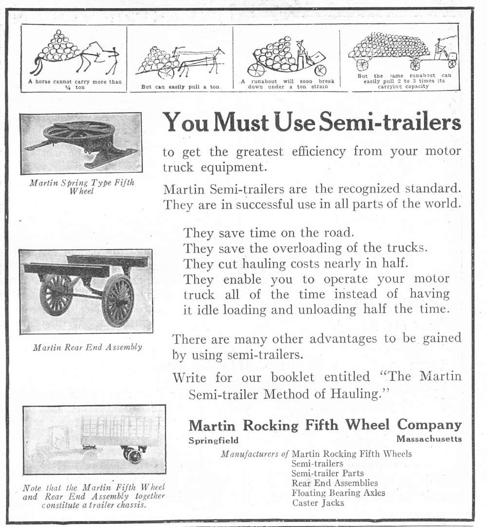 An advertisement for Martin semi-trailers.