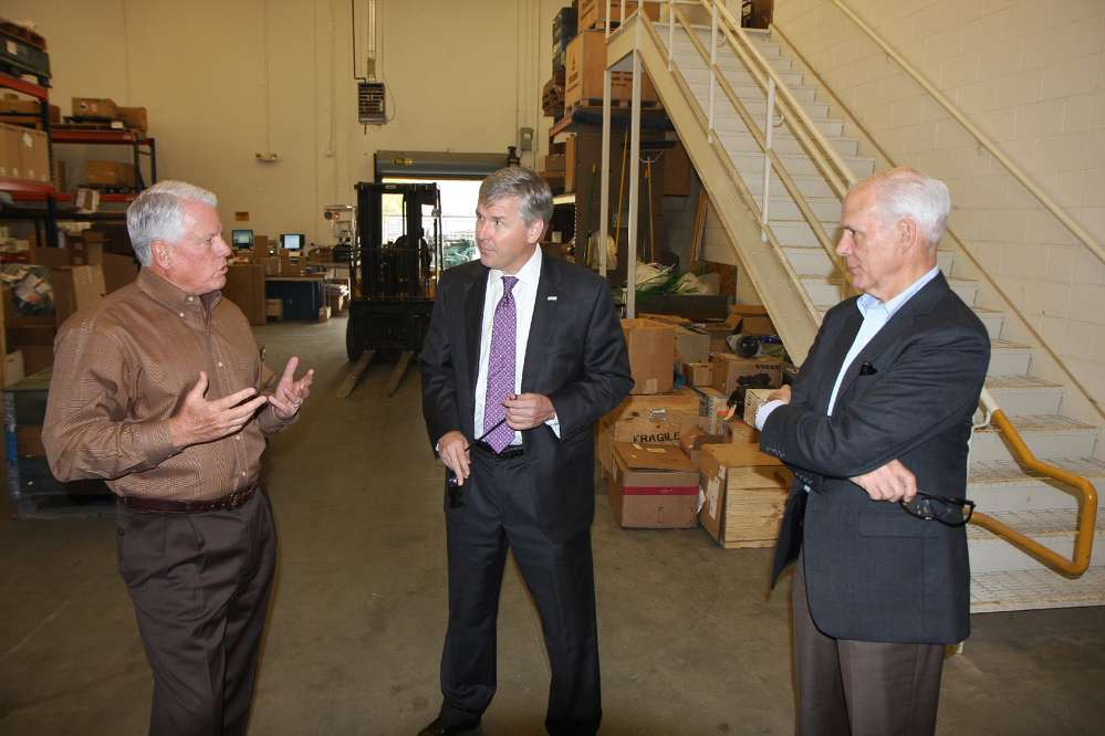 (L-R): Jack Evans, general manager of ASC Georgia; Rep. Rob Woodall; and Bob Henderson, executive vice president and COO of AED, discuss legislative priorities for Georgia, as well as the United States at large.