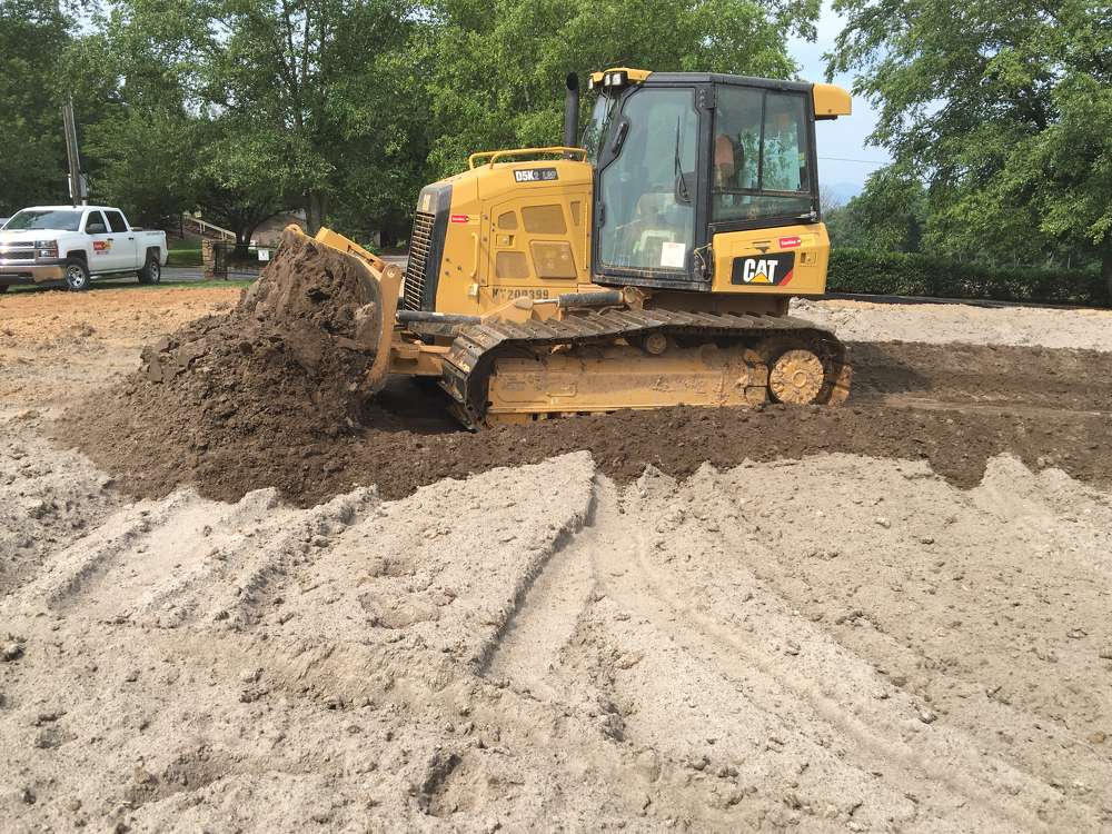 Marc Burger, Burger Shaping LLC, said the cab visibility was a great feature as well as the responsiveness of the blade, which is important because he uses the dozer blade as a shaper.