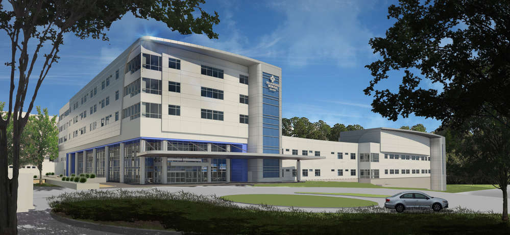 A rendering of the completed M.T. Mustian Center.