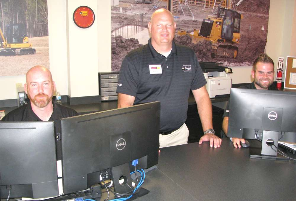 (L-R) are Jason Moseley, Tom Maxwell and Quinn Dyas, all of Yancey Rents in Kennesaw, Ga.