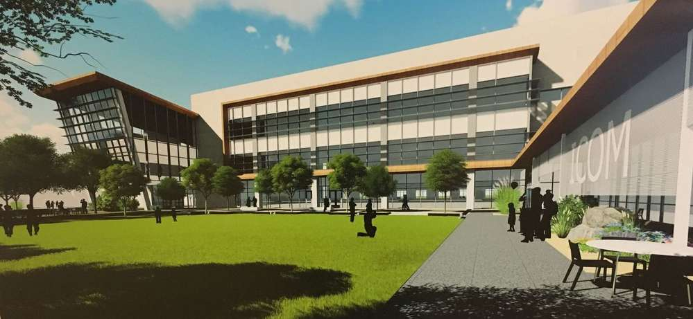 ISU photo  This is an architectural rendering of the planned new Idaho College of Osteopathic Medicine in Meridian.
