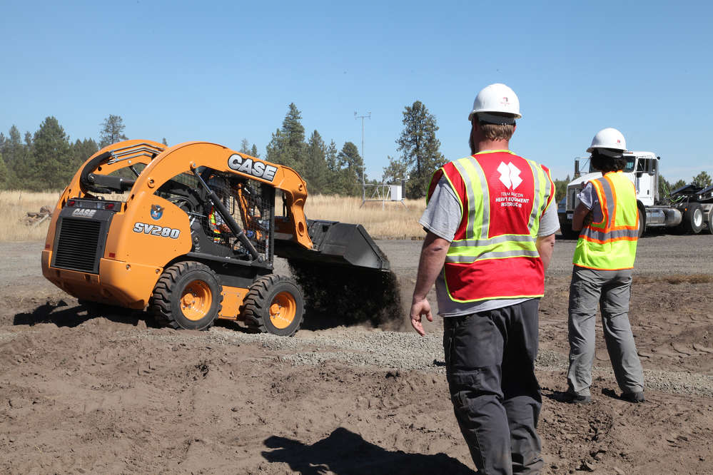 Central Machinery provided a Case SV290 skid steer for training purposes.