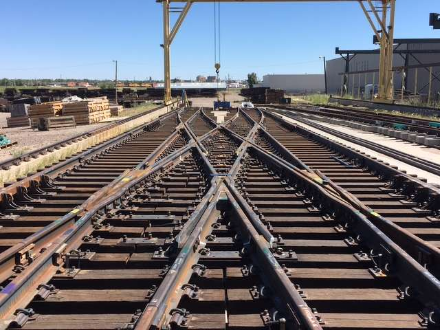 RailWorks photo. Rails are set at King Street Station in Seattle.