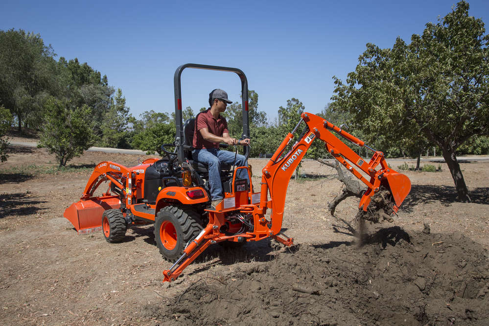 Kubota Tractor Backhoe Buckets : Kubota redefines the sub compact tractor market story