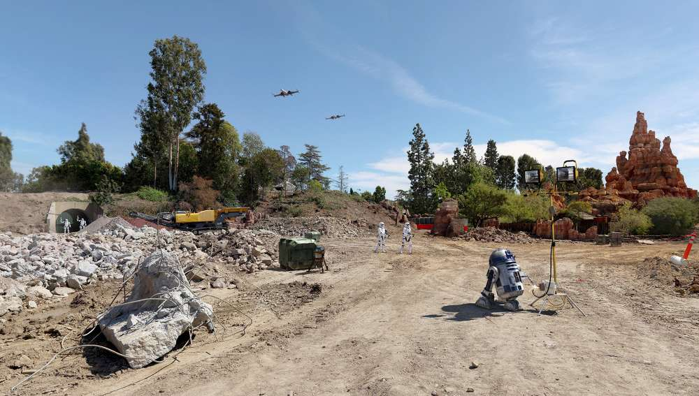 Disney Parks photo Anaheim officials expect Star Wars Land at Disneyland to provide a solid boost to tourism in the area and to the Orange County economy.