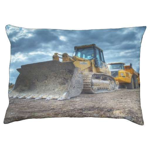 Stormy Construction Equipment Dog Bed